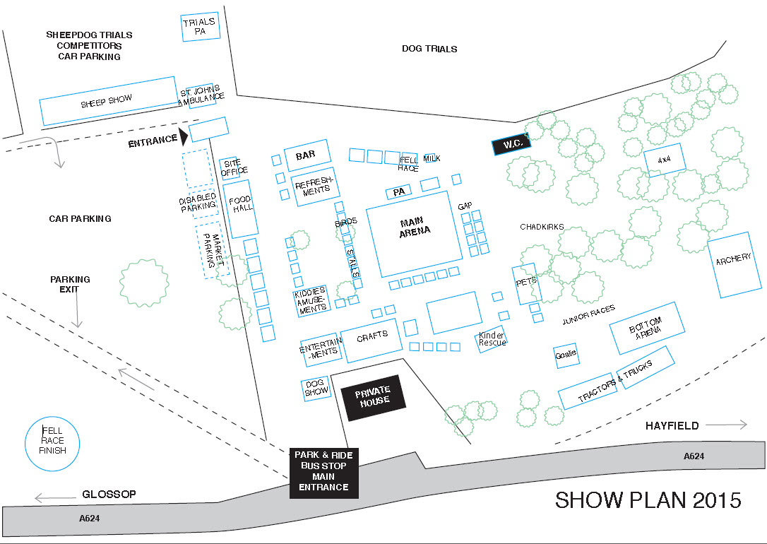Hayfield Show Site Plan