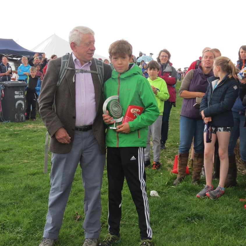 Caleb Winfield receives the 'Spirit of Charlie Craig' trophy 2017
